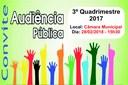 Audiência Pública do 3º Quadrimestre de 2017