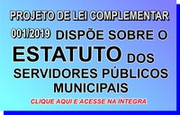 Projeto de Lei Complementar 001/2019