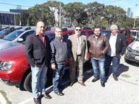 Vereadores e Prefeito Municipal vão a Curitiba receber Viaturas Policiais para Centenário do Sul